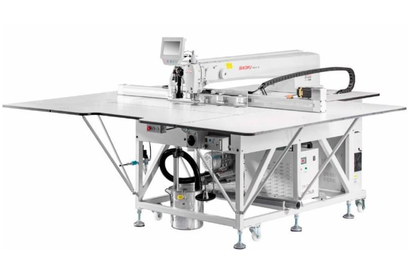 Автоматическая промышленная 1-игольная машина циклического шитья Baoyu NEX8-90130J с лазером и рабочем полем 1300x820 мм