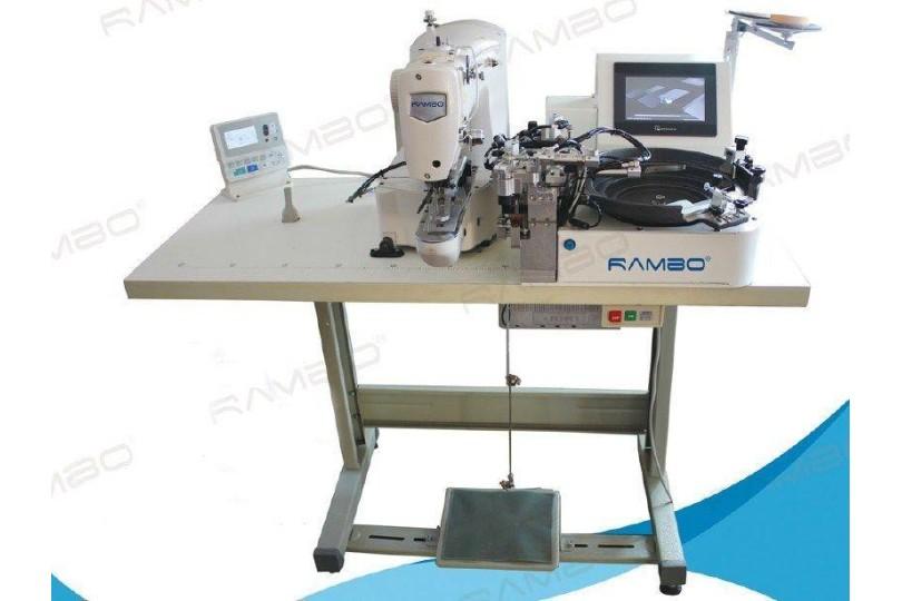 Rambo RM-100 Автоматическая пуговичная машина с роботом для подачи пуговиц