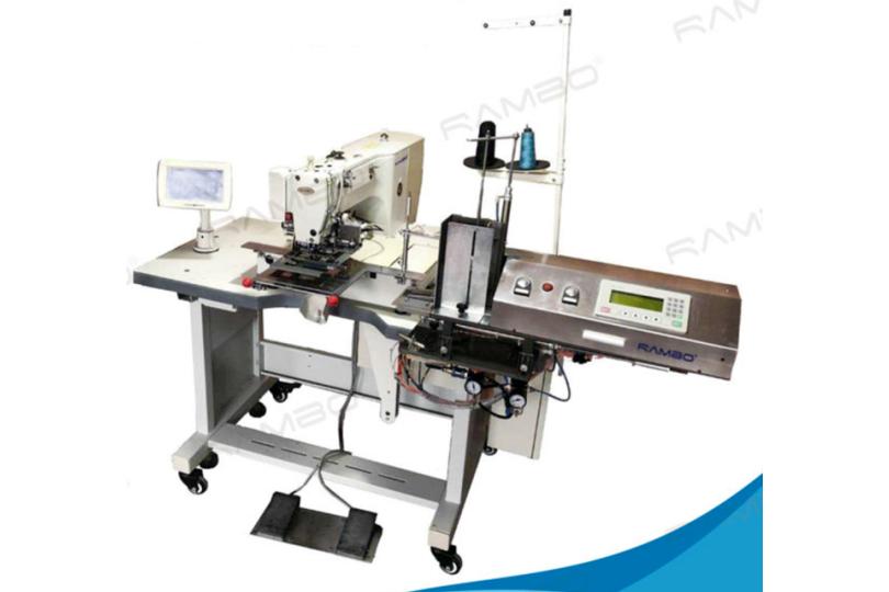 Rambo RM-166 Автоматическая машина для пришивания кожаных этикеток с автоматической подачей 100×75 мм