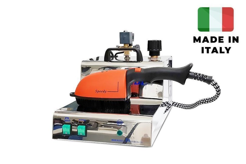 Промышленный парогенератор со щеткой Rotondi Mini 3 Inox + Brush с бойлером на 3,2 литра