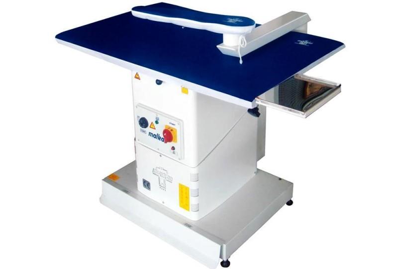 Прямоугольный гладильный стол Malkan UP102K с вакуумным отсосом и рукавом