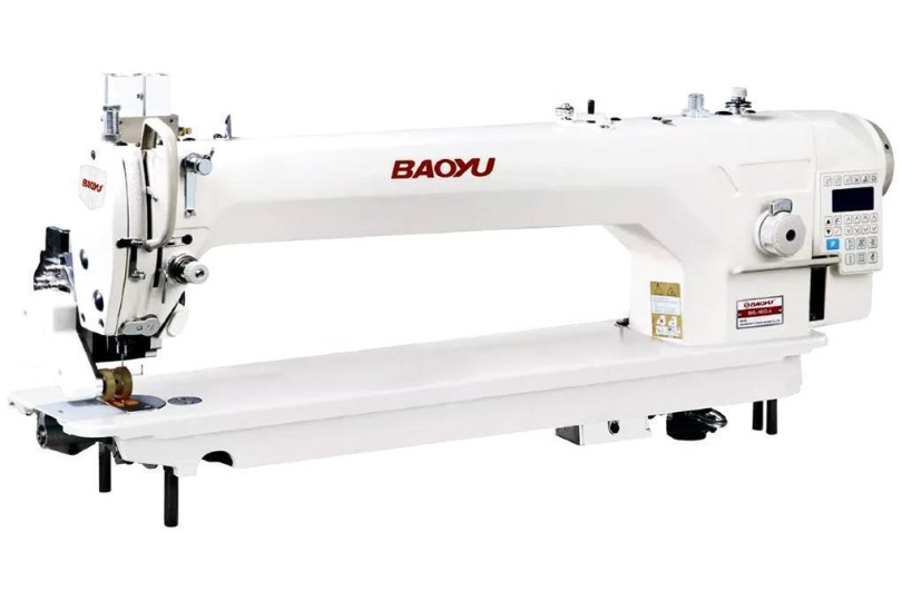 Комп'ютерна промислова швейна машина Baoyu BML-560D-4 з вбудованим сервомотором, подовженою платформою і роликовим просуванням матеріалу
