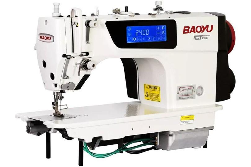 Комп'ютерна промислова швейна машина Baoyu GT-288 з сенсорним дисплеєм, напівсухою головою і вбудованим сервомотором для легких і середніх тканин