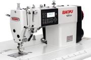 Компьютерная промышленная швейная машина Baoyu GT-288E-D4 с LCD-дисплеем, шаговым моторами, електронным регулятором длины стежка и встроенным сервомотором для легких и средних тканей