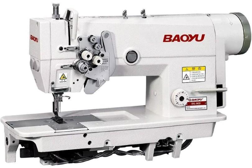 Baoyu BML-845D-3-56 Двохголкова швейна машина з функцією відключення голок і вбудованим енергозберігаючим сервомотором для легких і середніх тканин