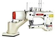 Четырехигольная промышленная швейная машина флэтлок Baoyu BML-740-02-G2-6 с задним пуллером и встроенным сервомотором для легких и средних тканей