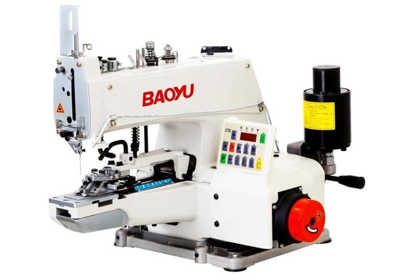 Електромеханічна гудзикова машина ланцюгового стібка Baoyu BML-373D зі вбудованим серводвигуном, панеллю управління та автоматичними функціями