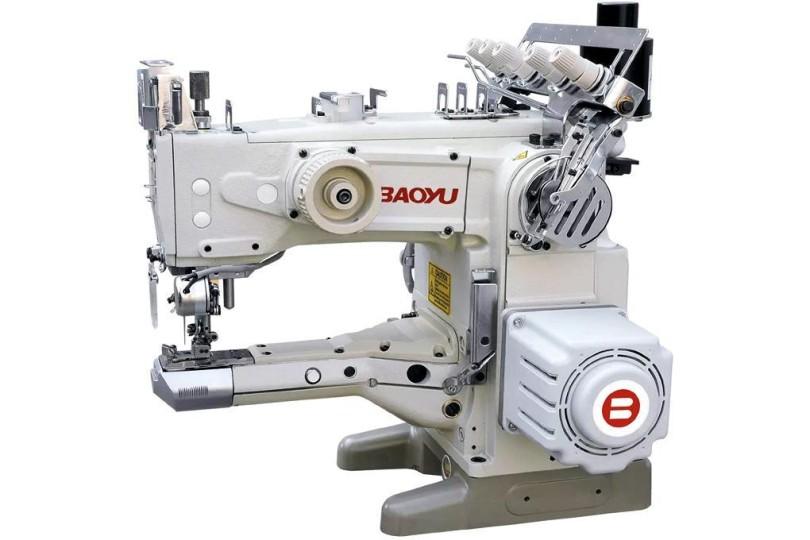 Рукавна промислова розпошивальна машина Baoyu BML-1500D/UT-56 з вбудованим енергозберігаючим сервомотором і автоматичним обрізанням нитки