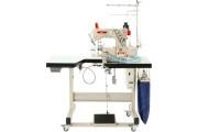"""Комп'ютерна промислова розпошивальна машина Baoyu BML-787-R600-56 з вбудованим сервомотором, циліндричною рукавною платформою з правостороннім ножем для вшивання гумки в труси """"боксери"""""""