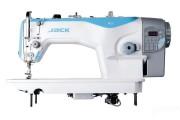 Промислова швейна машина човникового стібка Jack JK-A2S-4CZ з обрізанням нитки, плоскою платформою, нижнім транспортером і вбудованим серводвигуном