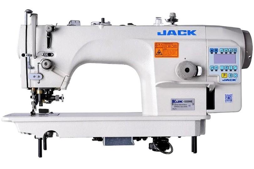 Jack JK-5559WE Автоматическая 1-игольная швейная машина челночного стежка с обрезкой края материала