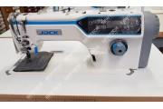 Jack JK-A6F 1-игольная автоматическая прямострочная швейная машина с встроенным сервомотором, закрытым картером и игольным продвижением материала