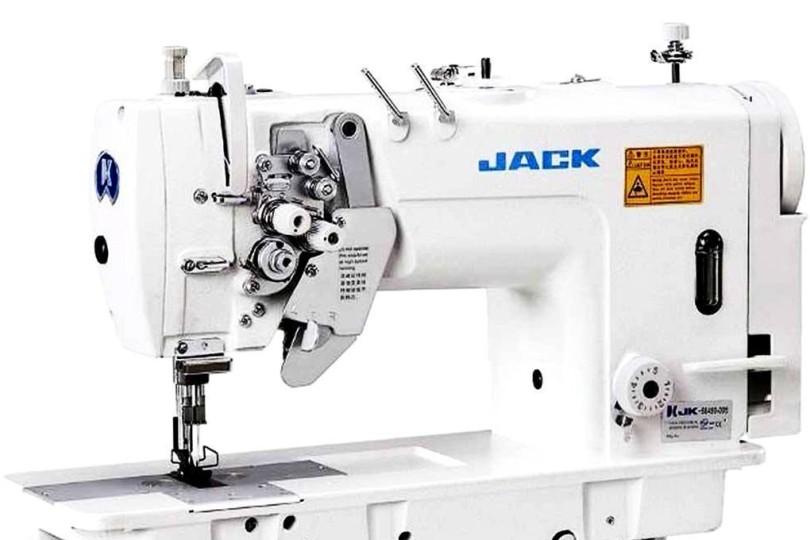 Двухигольная швейная машина челночного стежка Jack JK-58450-003 с плоской платформой и отключением игл