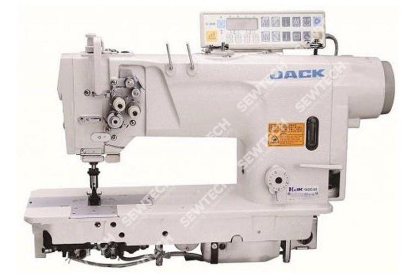 Jack JK-58720D4 2-х игольная автоматическая швейная машина без отключения игл и увеличенными челноками
