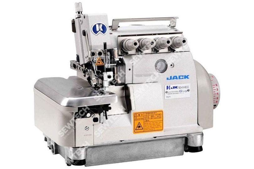 Jack JK-798D-5-04/435 5-ти ниточный промышленный оверлок с встроенным сервоприводом для тяжелых материалов