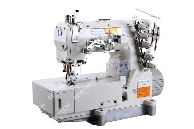 Jack JK-8569ADI-356/364 3-х игольная плоскошовная швейная машина с плоской платформой и прямым приводом