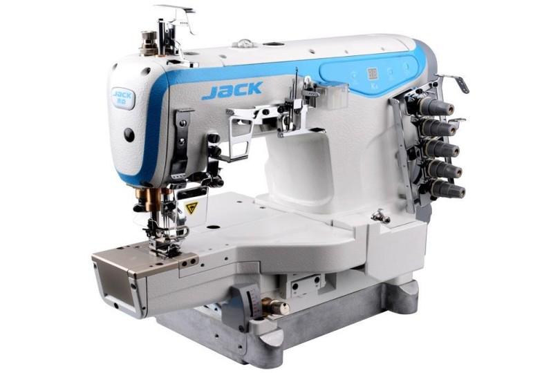 Jack JK-K4-D-01GB 3-х игольная плоскошовная машина с цилиндрической платформой и прямым приводом (новая модель)