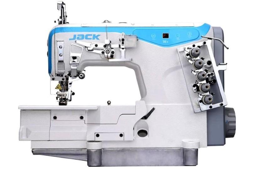 Jack JK-W4-D-01GB 3-х игольная плоскошовная машина с плоской платформой и прямым приводом (новая модель)