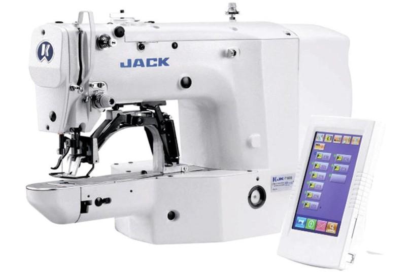 Компьютерная закрепочная машина Jack JK-T1900BSK с площадью шитья 40x30 мм для средних материалов