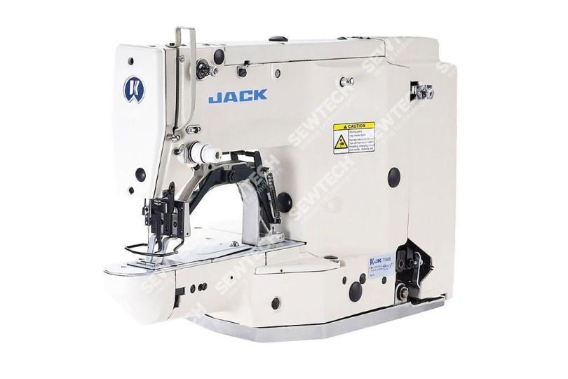 Промышленная 1-игольная швейная машина-полуавтомат Jack JK-T1850 челночного стежка для выполнения зигзагообразных закрепок