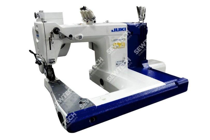 Juki МЅ-1261 Трьохголкова швейна машина подвійного ланцюгового стібка з П-подібною платформою