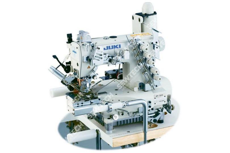 Juki MF-7923-E22(23)-B56/PL12(13) Плоскошовная швейная машина с цил. платформой, пулером и растяжными роликами