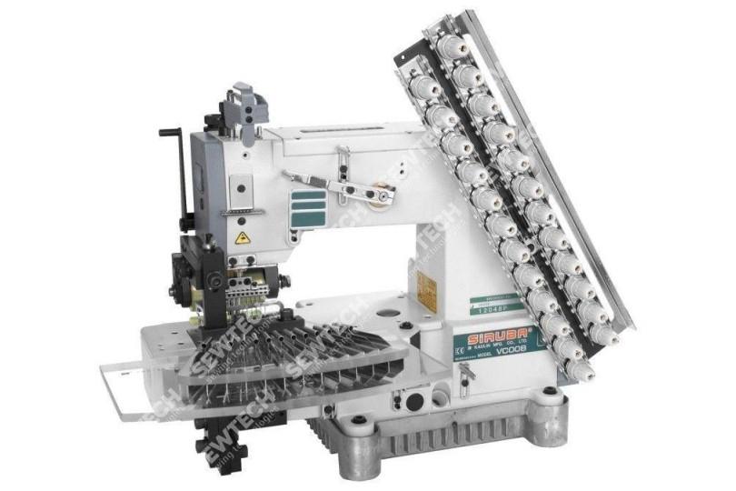 Siruba VC008-12064P/VPT 12-игольная машина цепного стежка для шитья складок