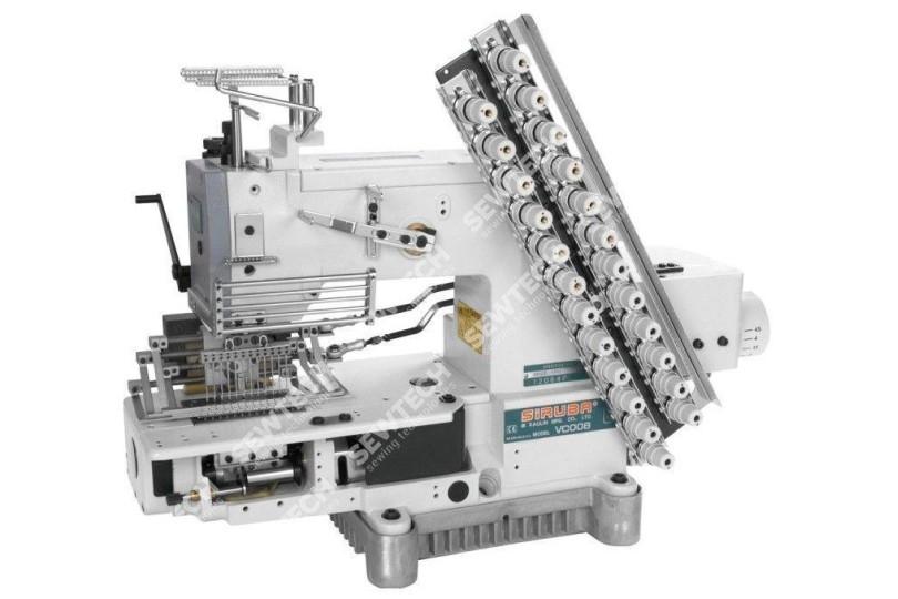 Siruba VC008-12064P/VSM 12-голкова машина ланцюгового стібка для виконання декоративних строчок
