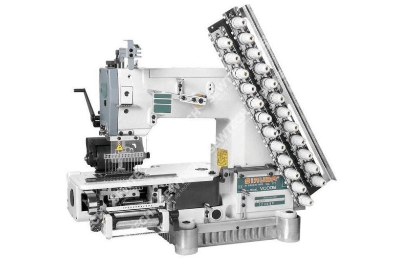 Siruba VC008-12064P/TO 12-игольная машина цепного стежка для подшивания светоотражающей тесьмы