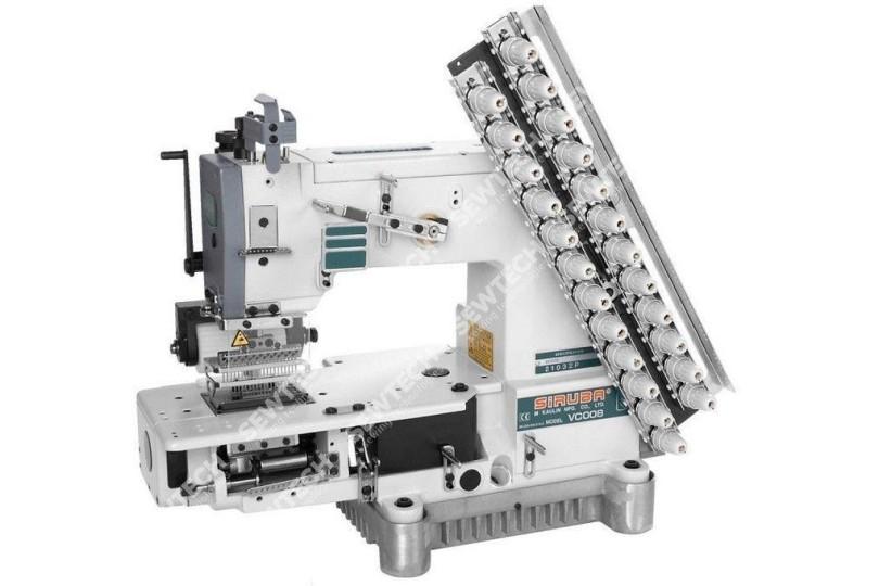 Siruba VC008-21032P 21-игольная машина цепного стежка для изготовления складок