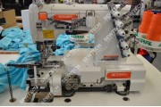 Siruba C007KD-W122-356(364)/CH/UTR 3-игольная плоскошовная машина со встроенным сервоприводом и электрообрезкой нитей