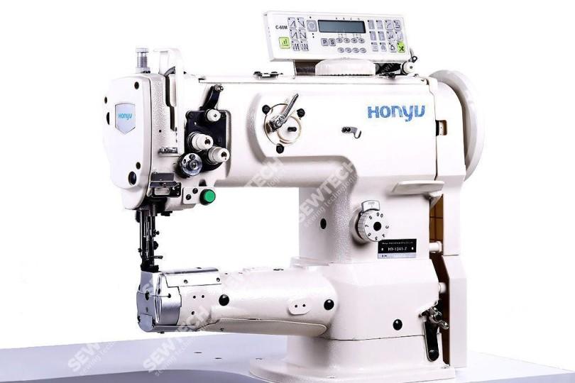Honyu HY-1341-7 / 1-игольная автоматическая швейная машина с цилиндрической платформой