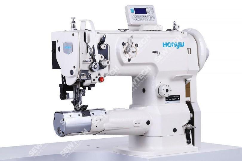 Honyu HY-1341VF / 1-игольная швейная машина с цилиндрической платформой и обрезкой края