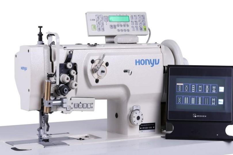 Honyu HY-550-1560 2-голкова швейна машина з програмним управлінням і обертовим игловодителем