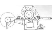 Чесальная машина HFJ-18 2200 для прочески синтетического волокна в рулонную форму