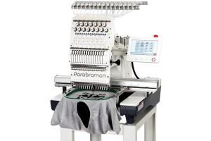 Parabraman PR-1201 Промышленная одноголовочная вышивальная машина c 8″ сенсорным LCD-дисплеем