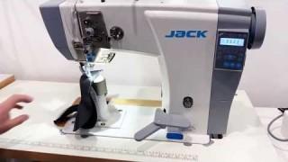 Колонковая швейная машина Jack JK-6691 | Тестируем работу!