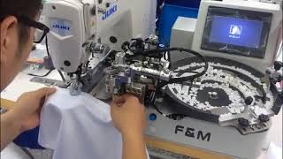 Rambo RM-101 Автоматическая пуговичная машина с роботом для подачи пуговиц на базе Juki
