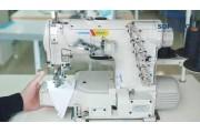 Високошвидкісна 3-голкова п'ятиниточна розпошивальна швейна машина Jack JK-8669BDI-01GB*356 з малою циліндричною платформою з верхнім і нижнім застилом